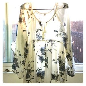 Long floral top